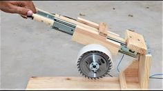 How to make a useful saw machine using power tools.