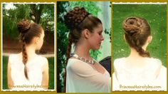I have found my new everyday hair style! Princess Leia Hairstyle, Spiral Braid Ceremony Updo, anti-humidity