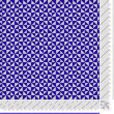 Hand Weaving Draft: Figure 2993, Atlas de 4000 Armures, Louis Serrure, 8S, 8T - Handweaving.net Hand Weaving and Draft Archive