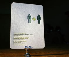 Amazingly adorable gay wedding invites - would probably rethink the colors, but I love love the concept.