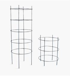 lee valley - folding tomato cage Lee Valley, Tomato Cages, Garden Trellis, Garden Accessories, Galvanized Steel, Tomato Cage