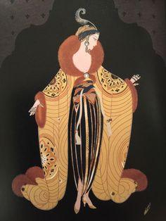 Illustration by Erté. Vintage Illustration Art, Graphic Design Illustration, Illustrations, Erte Art, Art Nouveau, Inspiration Art, Art Deco Posters, 23 November, Postcard Art