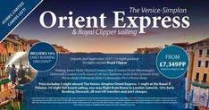 The one you have been waiting for.... Orient Express & Royal Clipper Sailing. This 12 night package is on my bucket list.. We have limited cabins available, so you need to be quick! The Venice-Simplon Orient Express and Royal Clipper sailing From 12 night package from £7,349pp 📆 Departs 2nd September 2021 🚂 One night on the Orient Express 🏨 One night at the luxury hotel Bauer LL Plazzo, set in a unique & exclusive spot in the heart of Venice ⚓️ 10 nights on Royal Clipper, sailing from… Sorrento Italy, Venice Italy, Bucket List Holidays, Simplon Orient Express, Taormina Sicily, Corfu Greece, Dubrovnik, Montenegro, First Night