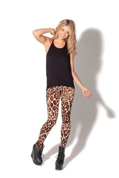 Baby Giraffe Leggings by Black Milk Clothing