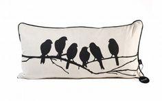 Black bird pillow