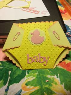 Baby Shower card made from Top Dog Dies