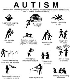 #Autism: Individuals with autism may possess some of these characteristics