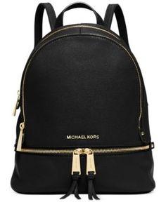 Michael Michael Kors Rhea Zip Small Backpack - Black