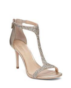 Imagine VINCE CAMUTO Phoebe Glitter T Strap High Heel Sandals | Bloomingdale's
