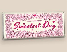 Love is Sweet HERSHEY'S Bar Wrappers: Ornate Swirling Pattern in Magenta on a Cream Background Front Hershey Bar, Custom Candy, Photo Boards, Bar Wrappers, Sweetest Day, Holiday Photos, Love Is Sweet, Magenta, Christmas Holidays