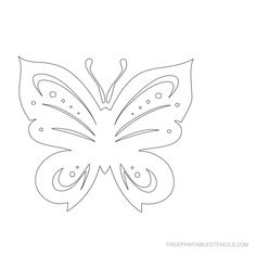 Free Printable Butterfly Stencil B