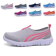 2017 Brand Breathable Mesh Summer Men Shoes Casual lady Loafers Light Walking Flats For Lovers Zapatillas Trainers Size 36-44