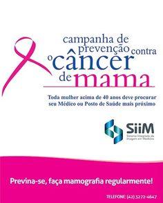 Campanha contra o câncer de mama. Quanto mais cedo ele for detectado mais chances de cura. #saude #prevencao #cancerdemama