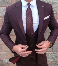 Dark purple suit #dailysuit