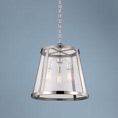 Feiss Harrow Polished Nickel 19-Inch-W Pendant Light - #EU6K894 - Euro Style Lighting