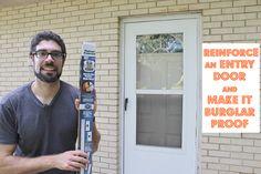 How to Reinforce an Entry Door and Make it Burglar Proof - Pretty Handy Girl