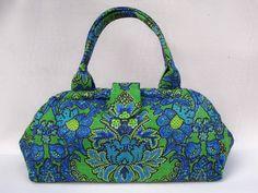 Doctor Bag  Vintage Green and Blue by victoriahorner on Etsy, $185.00