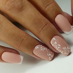 Beige Nail Enamel with sprinkle or French manicure tip designs