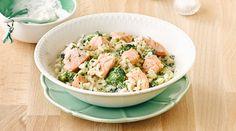 1.000 Tage empfiehlt Grünes Risotto mit Lachs. Für eine gesunde Ernährung in der Stillzeit