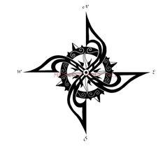 Wonderful Compass Tattoo Design | Tattoobite.com