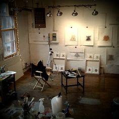 Aysen Orhon's studio