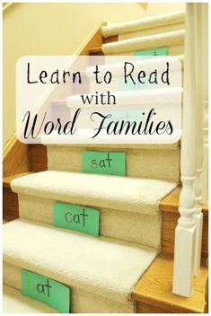 Learning to Read with Word Families