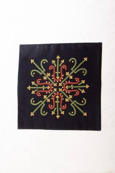 Marash Embroidery by Yevnige Hand Embroidery Dress, Hand Embroidery Videos, Modern Embroidery, Hand Embroidery Patterns, Embroidery Stitches, Kutch Work Saree, Kutch Work Designs, Cross Stitch Geometric, Cushion Cover Designs