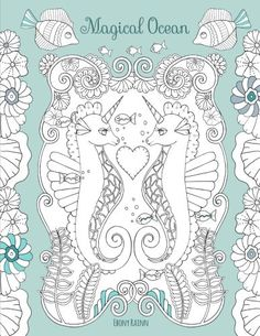 Magical Ocean A Beautiful Coloring Book For Adults By Eb