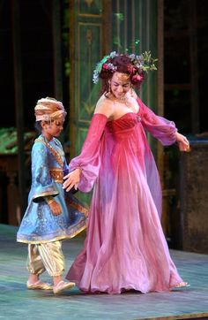 The Changeling Child and Peaseblossom in a production of Midsummer Night's Dream