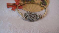 Two Tone Gold Art Nouveau Bracelet  by WishAnWearJewelry on Etsy