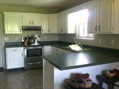 oainting kitchen countertops ideas | The Best Paint Colours to Update Forest Green | Home ...