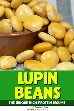 Lupin beans are a unique type of legume that provides large amounts of fiber and protein but very few carbohydrates. Here is a guide to their nutrition facts and potential benefits. #legumes #beans #lupin Beans Nutrition, Nutrition Articles, Diet And Nutrition, Healthy Foods, Healthy Recipes, Protein Supplements, Protein Sources, Base Foods, Different Recipes