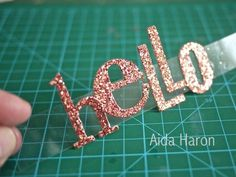 Sizzix Die Cutting Tutorial | Hello Card by Aida Haron