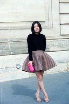 Miao Miao Zheng...skirt situation...Paris #WayneTippetts