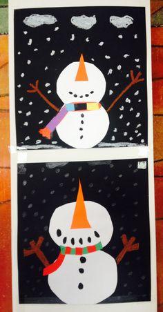 Schneemänner aus Tonkarton Klasse 3                                                                                                                                                                                 Mehr