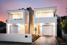 M Cubed Architects - Sydney Duplexes, Designer Houses, Townhouses - Sutherland Shire, Georges River, Bayside Row House Design, Duplex House Design, Apartment Design, Modern House Design, Minimalist House Design, Minimalist Architecture, Modern Architecture House, Duplex House Plans, Modern House Plans
