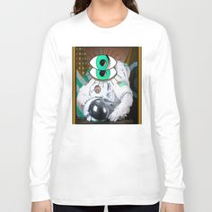 those eyes... in the sky - the astronaut Long Sleeve T-shirts by AmDuf - $28.00