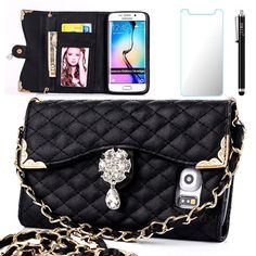 S7 Edge Case, Galaxy S7 Edge Case, OMIU(TM)(Long Chain Series) PU Leather Wallet…