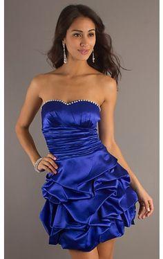 Short Strapless Sweetheart Dress DQ-703N