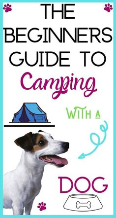 Have you ever wanted to go camping with your dog but didn't know what to do, where you could go, or what you would need? Your guide to camping with a dog here! Camping Packing, Camping Checklist, Camping Essentials, Camping And Hiking, Camping With Kids, Family Camping, Tent Camping, Camping Hacks, Camping Gear