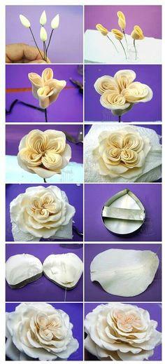 Fondant English rose