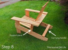 DIY Pallet #Adirondack Chair: Step by Step Tutorial   99 Pallets