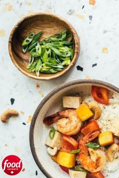 Serve this sweet and sour shrimp and tofu recipe over rice or noodles. How To Cook Rice, How To Cook Shrimp, Chinese Cooking Wine, Sweet Bell Peppers, Chicken Patties, Extra Firm Tofu, Tofu Recipes, Weeknight Meals