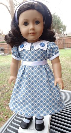 """18"""" Doll Clothes 1930's Frock Fits American Girl Ruthie, Kit, Molly, Emily"""