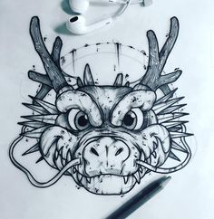 Tattoo sketches 633178028841286698 - BSA Tattoo ( Source by heikeprzyklenk Cartoon Drawings, Animal Drawings, Cool Drawings, Pencil Drawings, Tattoo Sketches, Drawing Sketches, Bleistift Tattoo, Desenho Tattoo, Dragon Art
