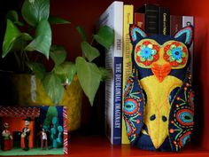 Owl Soft Sculpture Embroidered Felt Mexican by calaverasYcorazones, $120.00