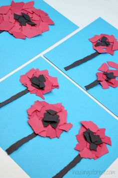 Torn Poppy Craft Torn Flower Craft ~ Veteran's Day or Remembrance Day Poppy for Kids Remembrance Day Activities, Veterans Day Activities, Remembrance Day Poppy, Toddlers And Preschoolers, Poppy Craft For Kids, Art For Kids, Toddler Crafts, Preschool Crafts, Paper Plate Poppy Craft