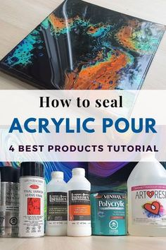 How to Varnish Pour Painting - TOP 4 Finishes from Spray Varnish to Epoxy Resin . - Acrylic Painting Tips - How to Varnish Pour Painting – TOP 4 Finishes from Spray Varnish to Epoxy Resin – Smart - Acrylic Pouring Techniques, Acrylic Pouring Art, Acrylic Resin, Acrylic Art, Epoxy Resin Art, Abstract Acrylic Paintings, Resin Paintings, Abstract Art, Acrylic Spray Paint