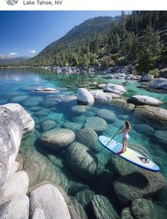 Lake Tahoe, California and Nevada in the Sierra Nevada Mountains the ultimate adventure travel destination! Hike, mountain bike, and enjoy the worlds most beautiful water with this perfect Lake Tahoe itinerary. Lago Tahoe, Vacation Places, Dream Vacations, Vacation Wear, Us Vacation Spots, Camping Places, The Places Youll Go, Places To See, Beautiful Places To Travel