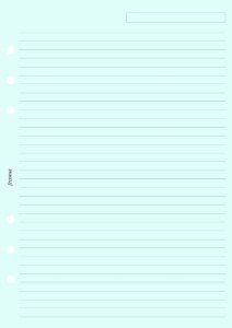 Filofax Papers Ruled Notepaper, Blue A5 - FF-343001 by Filofax. $4.50. Refill includes 25 sheets per pack.